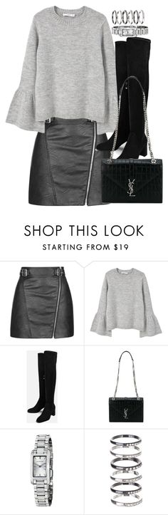 """Sin título #2407"" by marianam97 ❤ liked on Polyvore featuring Topshop, MANGO, Yves Saint Laurent, Burberry and M.N.G"