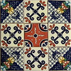 Decorative Mexican Mural Tile Painted Sink Tiles Patterns Pinterest Design Painting And