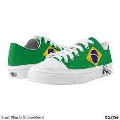 Brazil Flag Low-Top Sneakers