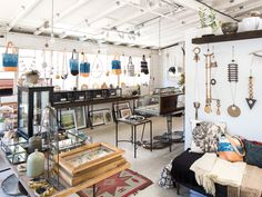 The decor of this sun-drenched jewelry shop may conjure up the Southwest (antelope skulls and succulents abound). Most of the featured designers are from the Bay Area—including the owner, Lauren Wolf, whose own pieces, like the rose gold and pavé white diamond studs and the six-strand pearl bracelets, are made on-site.