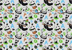 Vector Seamless Panda Pattern