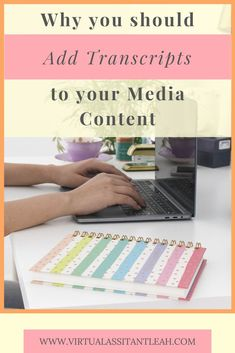 Transcribing your media content can provide several benefits for you and your followers and it can give your SEO a boost. Content Marketing, Social Media Marketing, Business Marketing, Digital Marketing, Online Business From Home, Grammar And Punctuation, Create Your Own Business, Work From Home Tips, Social Media Influencer