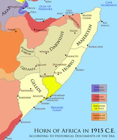 Horn of Africa during 1915