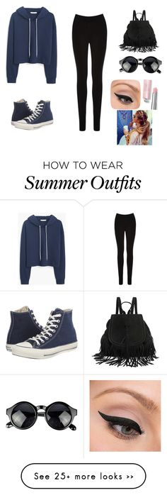 """Casual day outfit"" by fiza-1 on Polyvore featuring moda, MANGO, Oasis, Converse y LORAC"