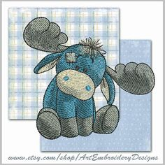"""Moose - Machine Embroidery Design for a Baby and Children of Series """"Old Toy"""""""