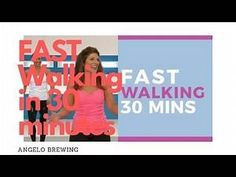 30 Minute Workout Video, Youtube Workout Videos, Fast Walking, Walking Exercise, How To Lose Weight Fast, Fat Burning, Exercises, Health, Fitness