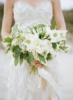 lush green bridal bouquet