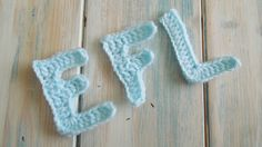 (crochet) How To Crochet Letters E, F, L - Yarn Scrap Friday
