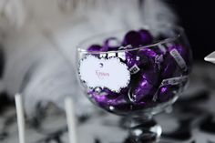 Purple Party Favors | Black and Purple New Years Eve Party - Kara's Party Ideas - The Place ...