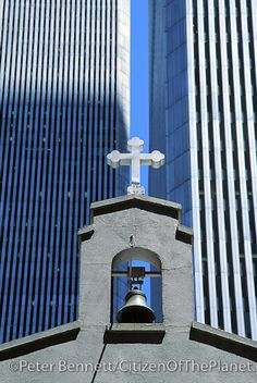 St. Nicholas Greek Orthodox Church that once stood in the shadow of the Twin Towers (about 1-2 blocks south).