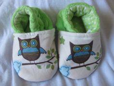 Baby Boy Owls custom made baby shoe by SewingSarah on Etsy, $15.00