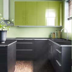 Love the charcoal grey mixed with Lime green.