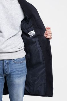 denim / grey / acne coat