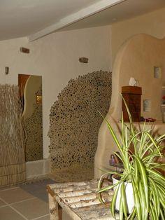cloison douche b ton cellulaire tadelakt galets pav s de. Black Bedroom Furniture Sets. Home Design Ideas
