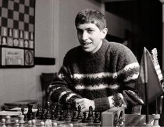 Young Bobby Fischer--  from Famous chess art.