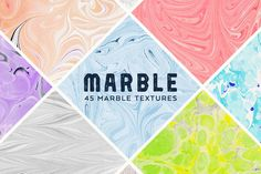 Hand Made Marble Textures by Dreamstale on @creativemarket