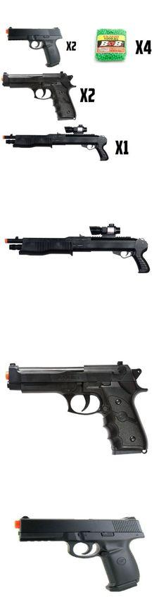 Pistol 160923: Lot 5 Airsoft Guns 1 Shotgun 2 Double Eagle Hand Gun 2 M9 Pistols Free 4000 Bbs -> BUY IT NOW ONLY: $59.75 on eBay!