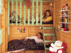 Backyard Fort, Backyard Playhouse, Backyard For Kids, Playhouse Interior, Shed Interior, Kids Outdoor Play, Outdoor Play Areas, Cubby Houses, Play Houses