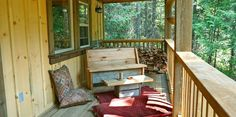 The spacious porch. Luxury Cabin, Natural Bridge, Gold Cup, British Columbia, Paths, Remote, Porch, Old Things, Deck