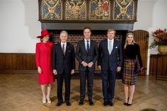 Het Belgisch koningspaar ontvangen in de Ridderzaal. Op vele terreinen werken we samen met België. We zijn goede buren &vrienden