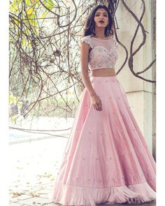 Latest Collection of Lehenga Choli Designs in the gallery. Lehenga Designs from India's Top Online Shopping Sites. Indian Wedding Outfits, Bridal Outfits, Indian Outfits, Indian Clothes, Indian Weddings, Wedding Dresses, Indian Designer Outfits, Designer Dresses, Pink Lehenga