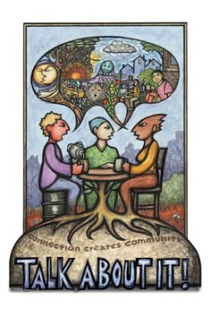 """""""Talk About It"""" - Poster by Ricardo Levins Morales. Click the image for more details."""