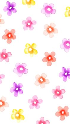Small Watercolor Flowers - Spring Wallpaper @linesacross for C.R.A.F.T..jpg - Box