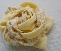 МК. Цветок из ткани