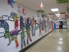SILHOUETTES AND MOSAICS: The Art Room at The Falcon Academy of Creative Arts: 6th grade art