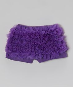Another great find on #zulily! Purple Chiffon Ruffle Shorts - Infant, Toddler & Girls #zulilyfinds