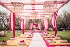 # pink n white mandap decor # Indian wedding Sikh Wedding Decor, Wedding Hall Decorations, Wedding Mandap, Stage Decorations, Wedding Vendors, Wedding Events, Wedding Lounge, Outdoor Wedding Reception, Wedding Prep