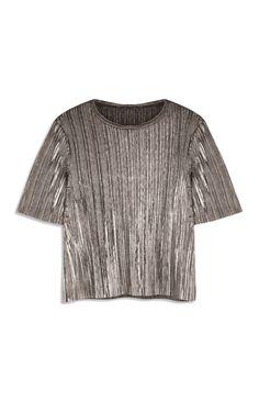 Primark - T-shirt met metallic finish 10tje