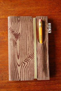 Woodgrain notebook by Chikabird
