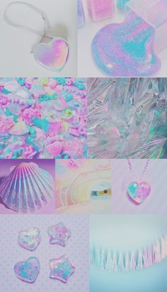 Iridescent collage wallpaper, background, iPhone, android, pretty, sparkly, pink, purple, colorful, rainbow