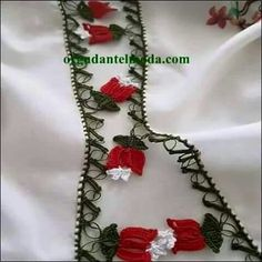 This Pin was discovered by HUZ Cotton Crochet, Irish Crochet, Knit Crochet, Saree Tassels, Crochet Borders, Diy And Crafts, Crochet Necklace, Projects To Try, Knitting