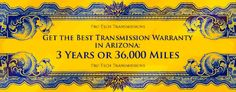 We are glad to offer the best transmission warranty in Phoenix / Arizona... because that's how good our work is! Our warranty is 3 years or 36,000 miles. http://www.pro-techtransmission.com/warranty/