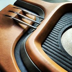 car audio interior design industrial design id display aluminum mdf leather