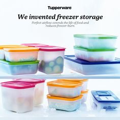 Got leftovers from a big cook up in your micro pressure cooker or anything else? Why not freeze them for another day/night.our freezer mates are you mates! Freezer Organization, Freezer Storage, Food Storage, Kitchen Storage, Storage Ideas, Tupperware Logo, Tupperware Storage, Tupperware Consultant