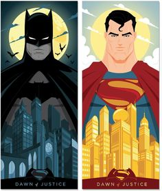"by Mike Mahle. Tribute To Zach Snyder's ""Batman V Superman: Dawn Of Justice"" by Creator Poster Posse"