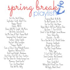 Playlist: Rock out to these awesome tracks as you gear up for Spring Break! Sound Of Music, Good Music, My Music, Song Playlist, Playlist Ideas, Party Playlist, Summer Playlist, Music Mood, Mood Songs