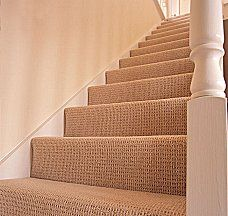 Wool berber carpet (wool is the nicest / best kind and a natural fiber)
