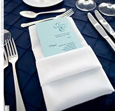Navy Blue table linens?  We could arrange for you...