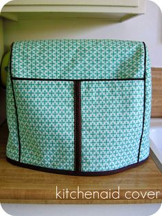 homemade by jill: KitchenAid mixer cover    tutorial for making a cover for your stand mixer