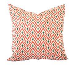 "One Geometric pillow cover, Coral Pillow, Blue Pillow, Grey Pillow, Floral Pillow, 14"", 16"", 18"" 20"", decorative pillow, throw pillow by ThatDutchGirlPillows on Etsy"