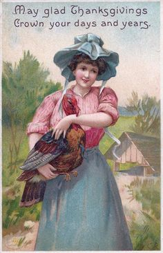 early 1900s Thanksgiving postcard