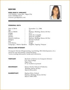 simple Biodata Format Job Pdf A Simple Resume Format Sample Biomedical Technician Resume Sample Best Format Sample Resume Doc Simple Resume Format Pdf For Freshers.