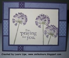 """Smiles, Laura: SU Blessings from Heaven **** Stamp set: """"Simply Soft"""", 2011-12 Hostess set, retired"""
