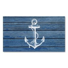 White Anchor And Vintage Blue Wood Business Card Template. Make your own business card with this great design. All you need is to add your info to this template. Click the image to try it out!