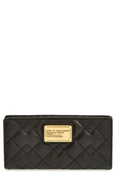 MARC BY MARC JACOBS 'Classic Q - Miru' Quilted Leather Wallet available at #Nordstrom