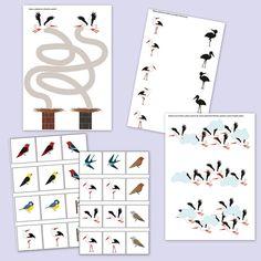 Advent Calendar, Preschool, Birds, Education, Holiday Decor, Projects, Spring, Shop, Blue Prints
